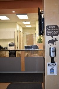 Moose & Squirrel Medical Clinic Reception